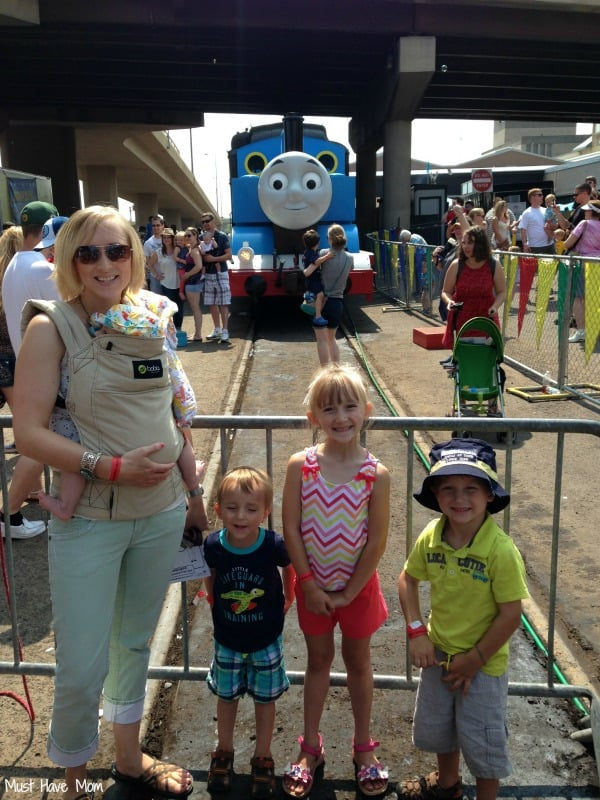 Sarah and kids at Day Out With Thomas