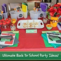 Throw The Ultimate Back To School Party For Kids: After School Snacks, Free Printables, DIY's & More!