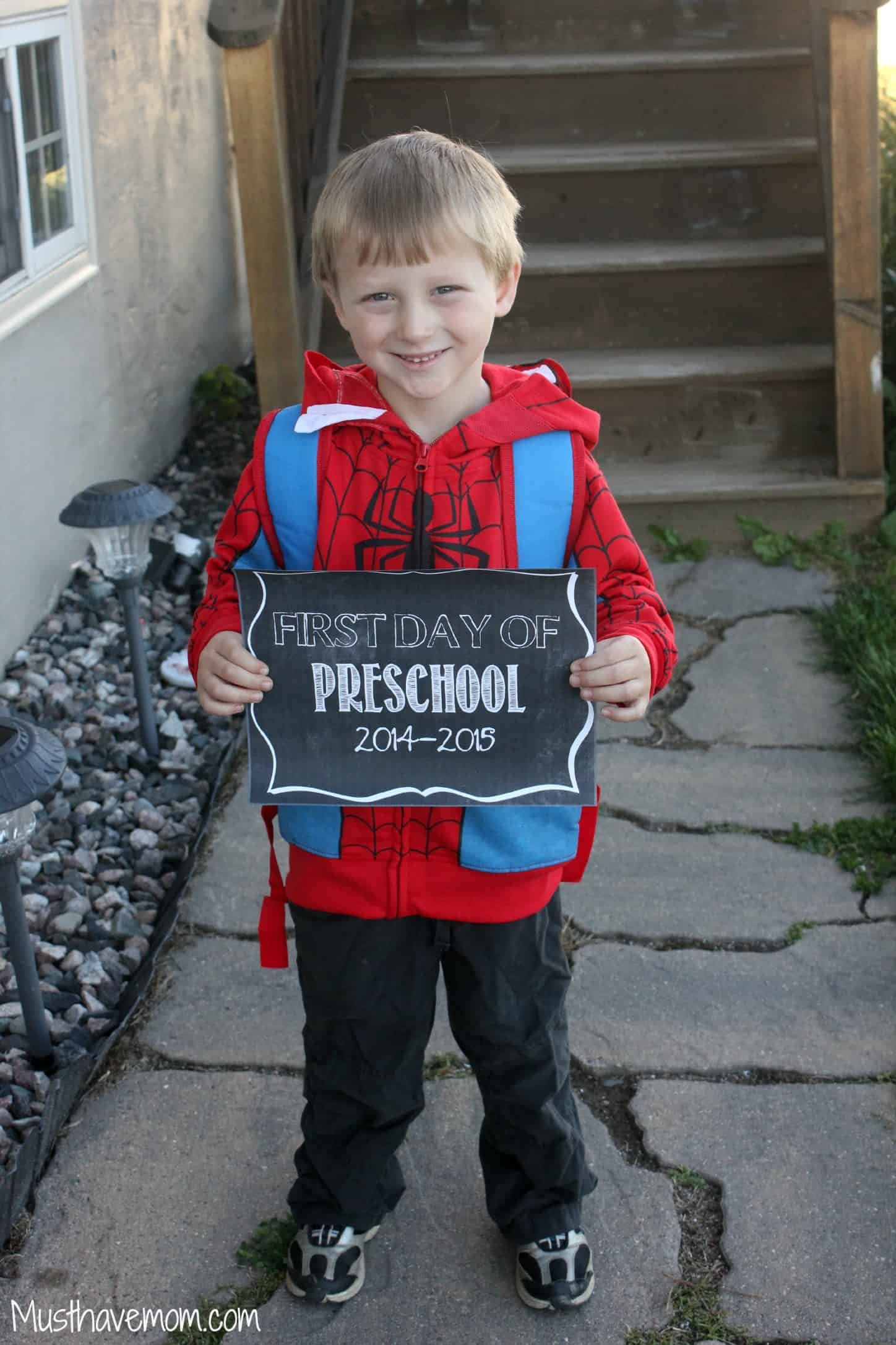 First Day Of College Picture: Aiden's First Day Of Preschool: My Little Superhero