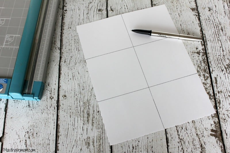 Create a sheet with grid lines -Musthavemom.com