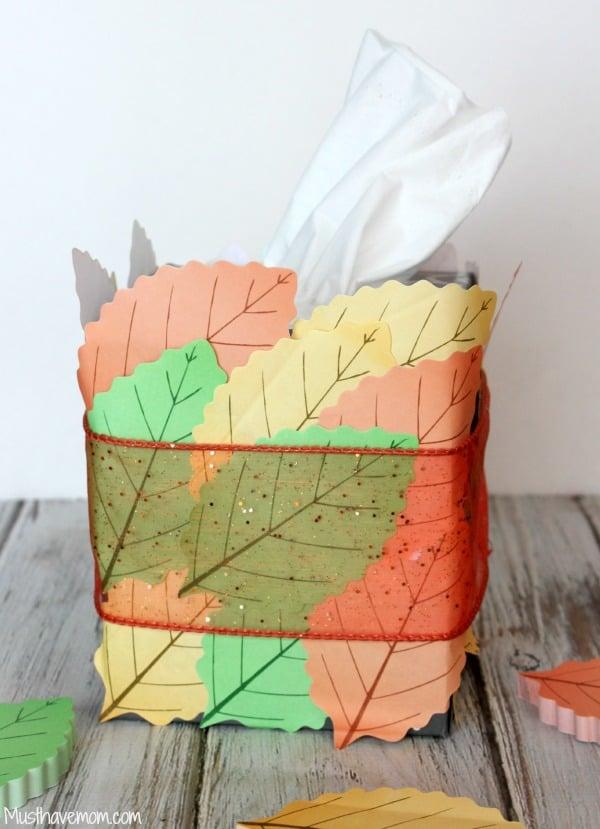 DIY Fall Tissue Box Tutorial -Musthavemom.com