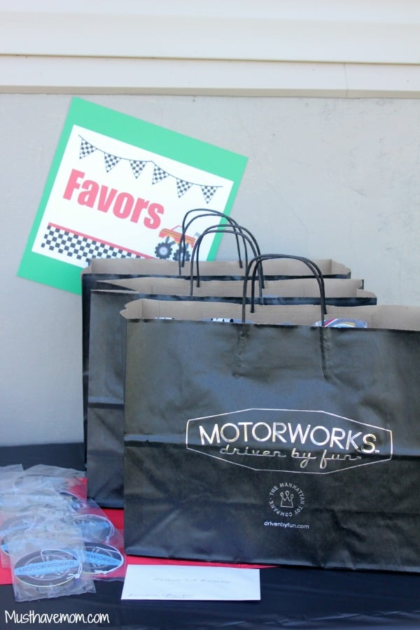 Motorworks Party Favors