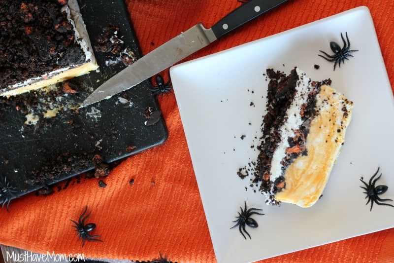 Halloween Frozen Oreo Orange Cream Cake