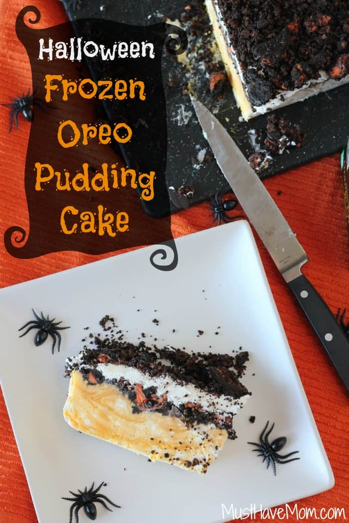 Halloween Frozen Oreo Pudding Cake with TruMoo Orange Scream! -Musthavemom.com