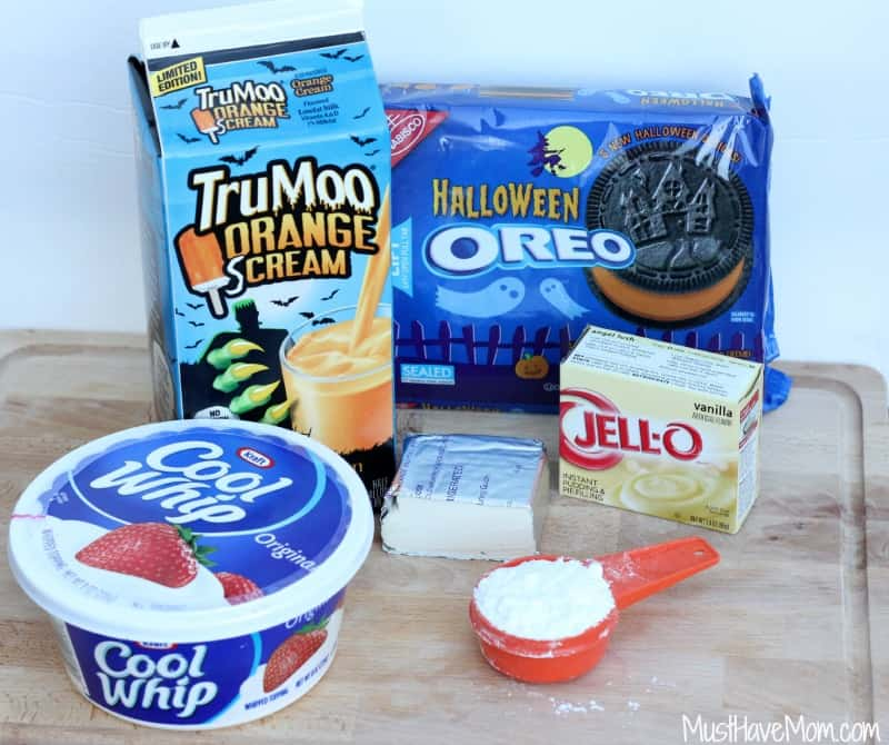 Halloween Ice Cream Cake Ingredients
