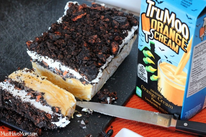 Halloween Oreo Orange Cream Frozen Cake