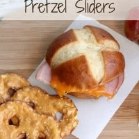 Smoked Ham & Cheddar Pretzel Sliders: Easy 5 Minutes Or Less Lunch Menus!