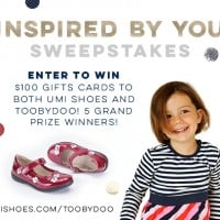 $100 Umi Gift Card AND $100 Toobydoo Gift Card Giveaway!