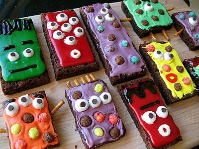 Halloween Monster Brownies