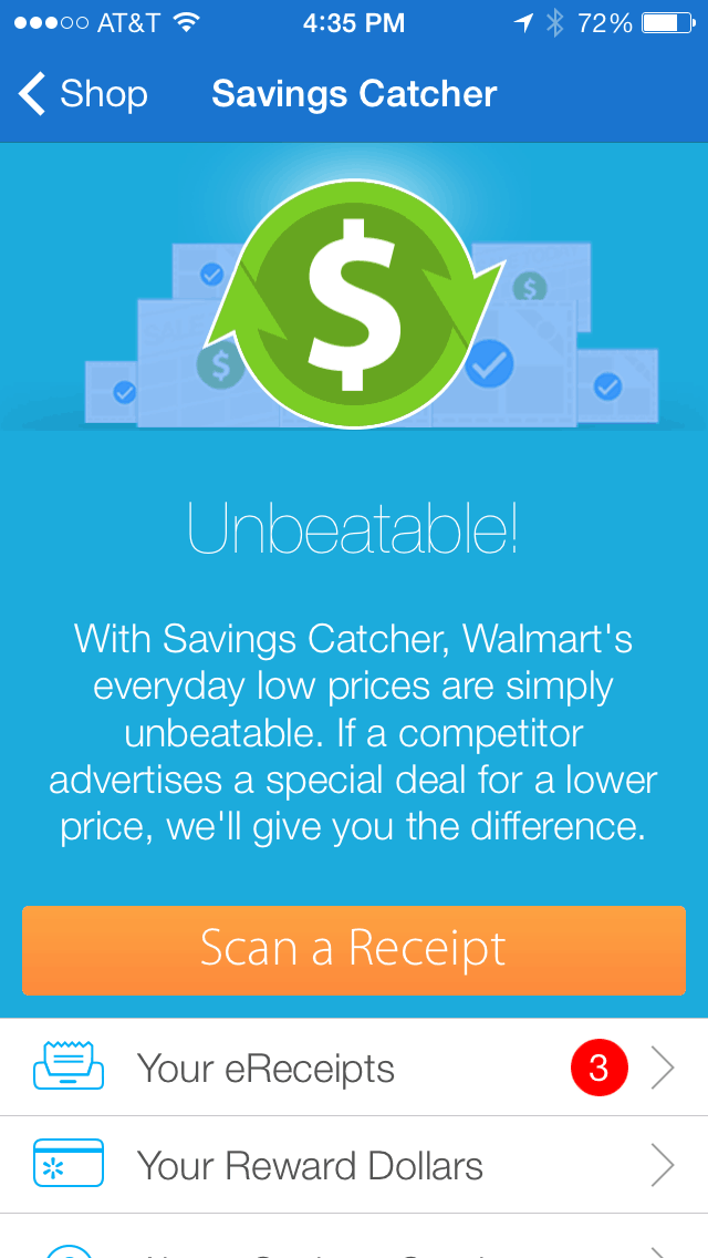 Savings Catcher App