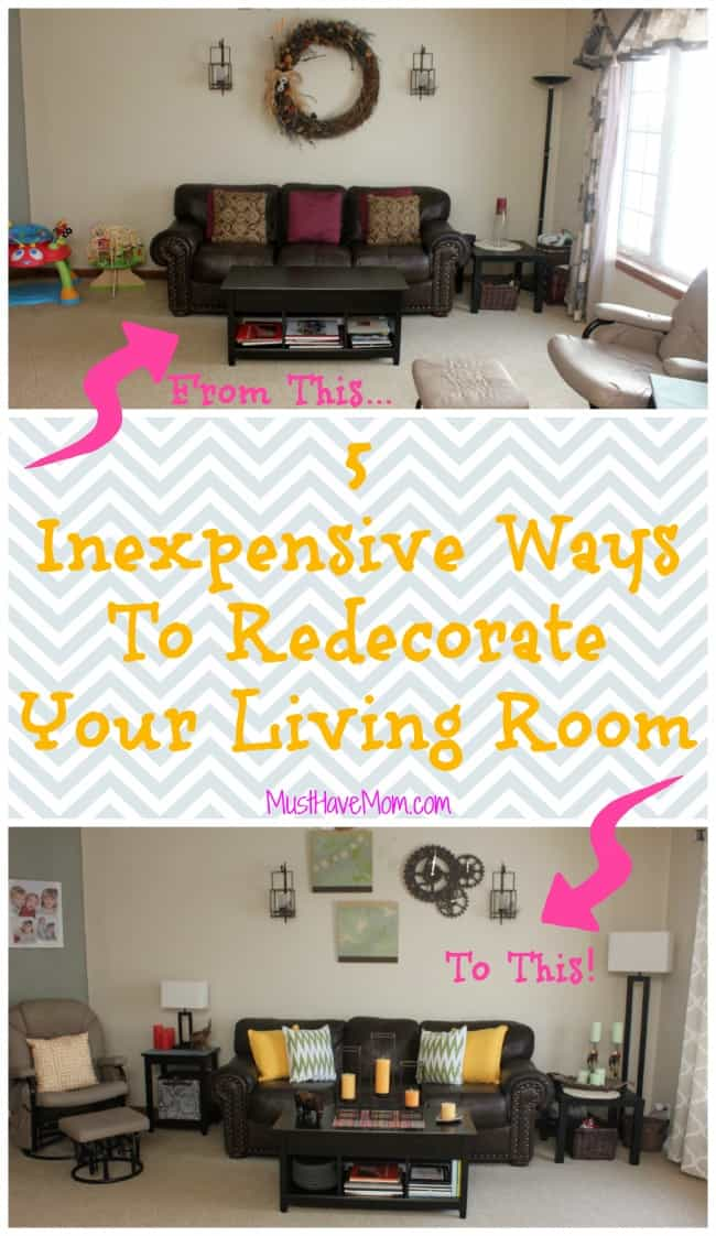Inexpensive ways to decorate your living room living room for Inexpensive living room