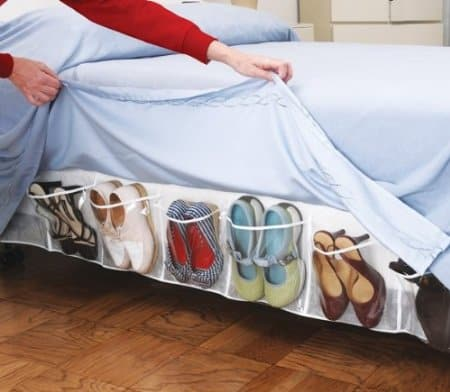 Bed Skirt Shoe Storage