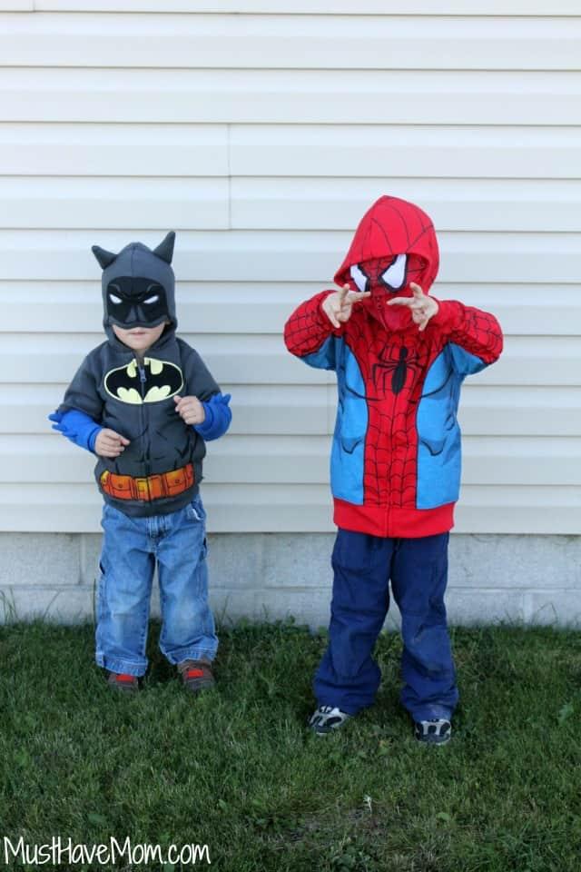 Batman Hoodie and Spiderman Hoodie