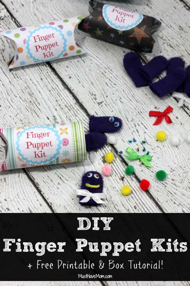 DIY Finger Puppet Kits + Free Printable and Box Tutorial