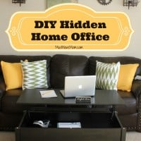 DIY Hidden Home Office -Must Have Mom