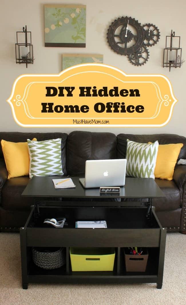 DIY Hidden Home Office -Must Have Mom