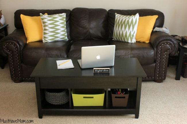 DIY Living Room Office Hidden