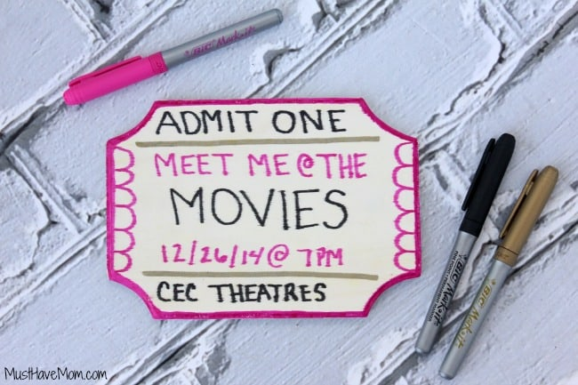 DIY Movie Ticket