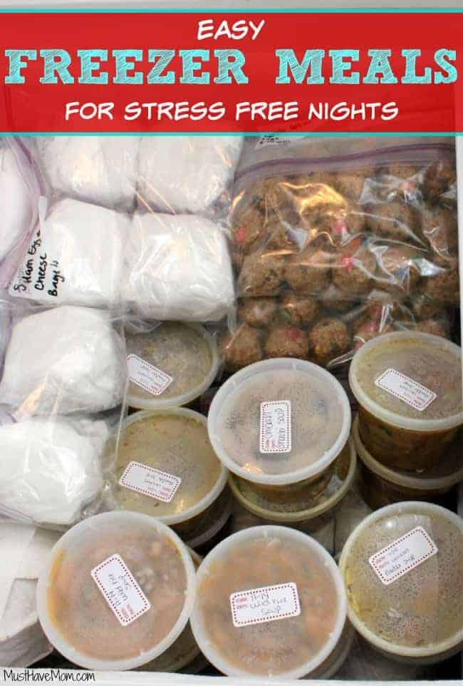 Easy Freezer Meals For Stress Free Nights