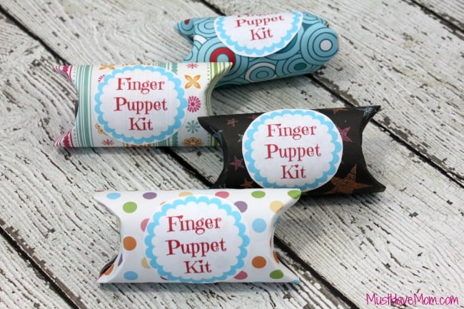 Free printable finger puppet kit