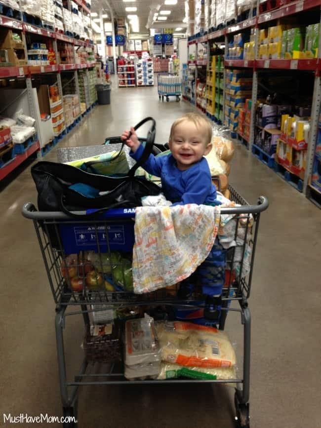 Freezer Meal Shopping with Brady