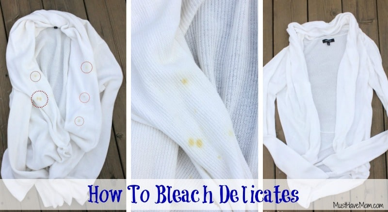 How To Bleach Delicates