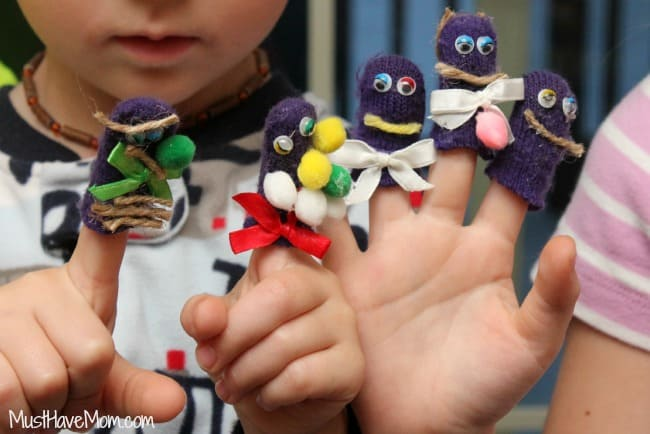 Kids Finger Puppet Craft and Free printable boxes