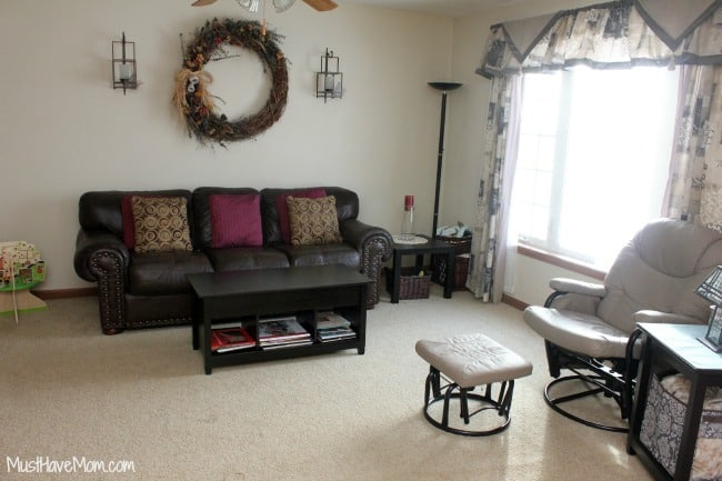 Living Room Makeover Before