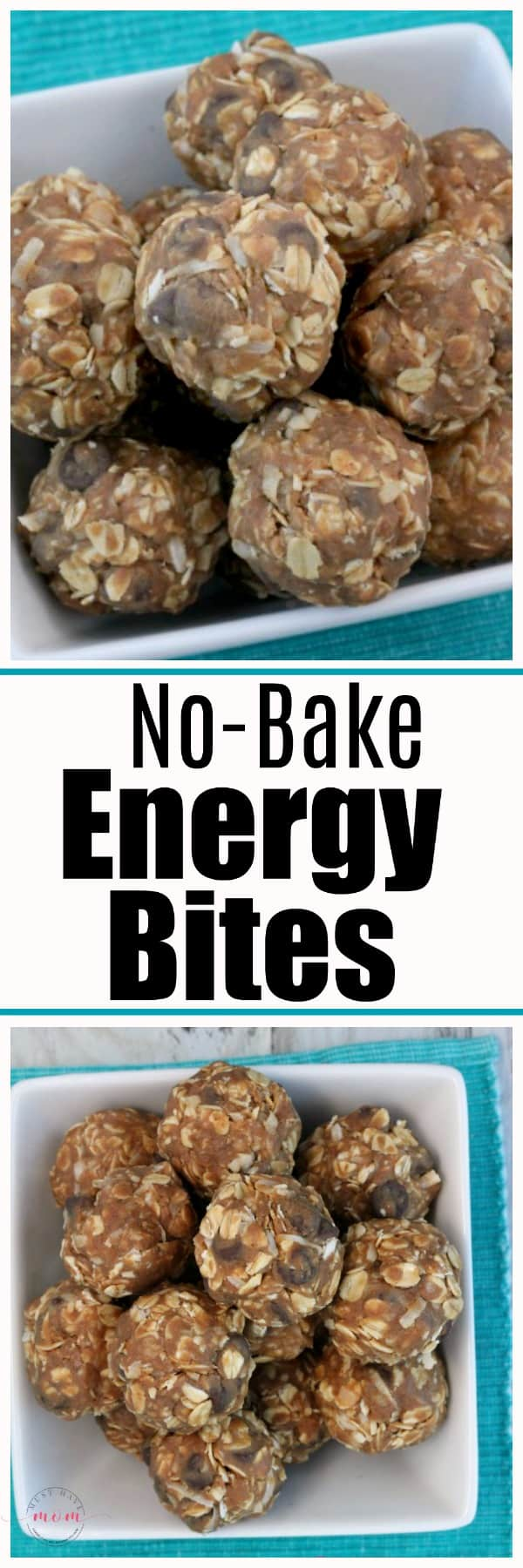 Quick and easy no bake energy bites recipe for grab and go breakfast or healthy snack. Pin for meal prep ideas!