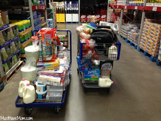 Sam's Club Freezer Cooking - Shopping for freezer meal ingredients