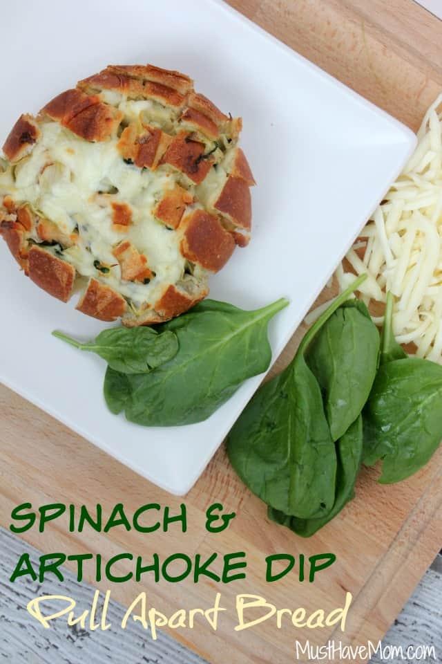Spinach & Artichoke Dip Pull Apart Bread -Musthavemom.com