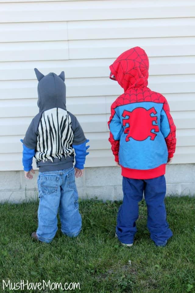 Superhero Hoodies for toddler boys