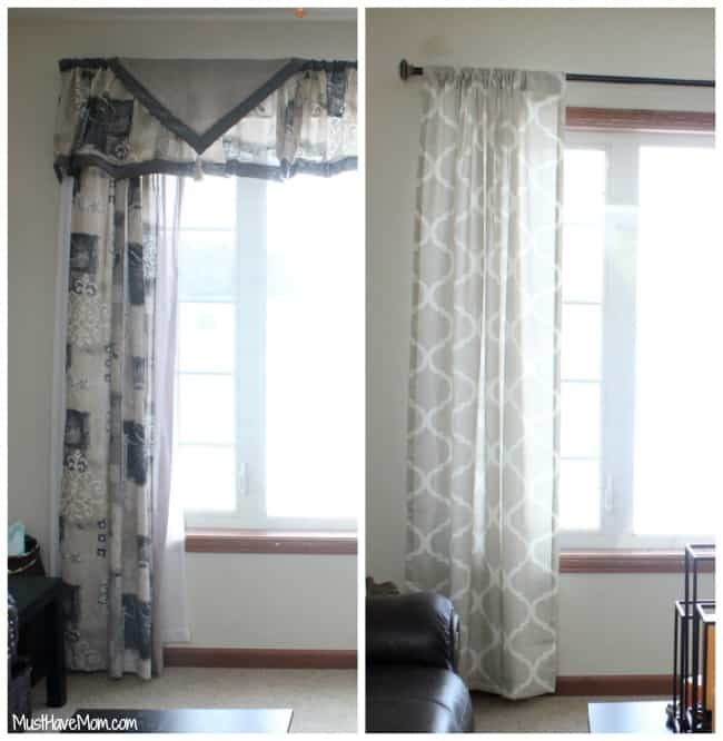 update outdated curtains and window treatments