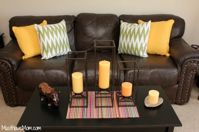 Use bold decor to change the look of a room