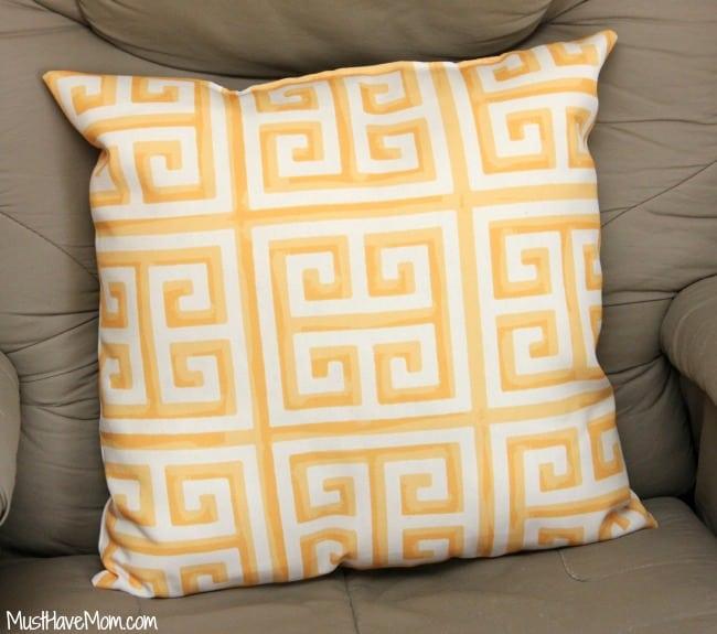 wayfair yellow throw pillow
