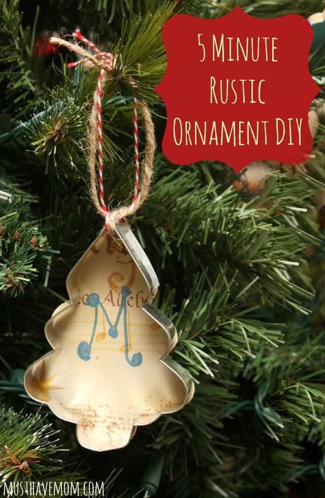 5 Minute Rustic Ornament DIY