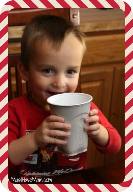 Kids can donate Santa's glass of milk to the great American milk drive