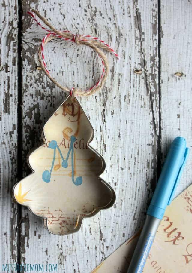 Easy Rustic Christmas Ornament DIY