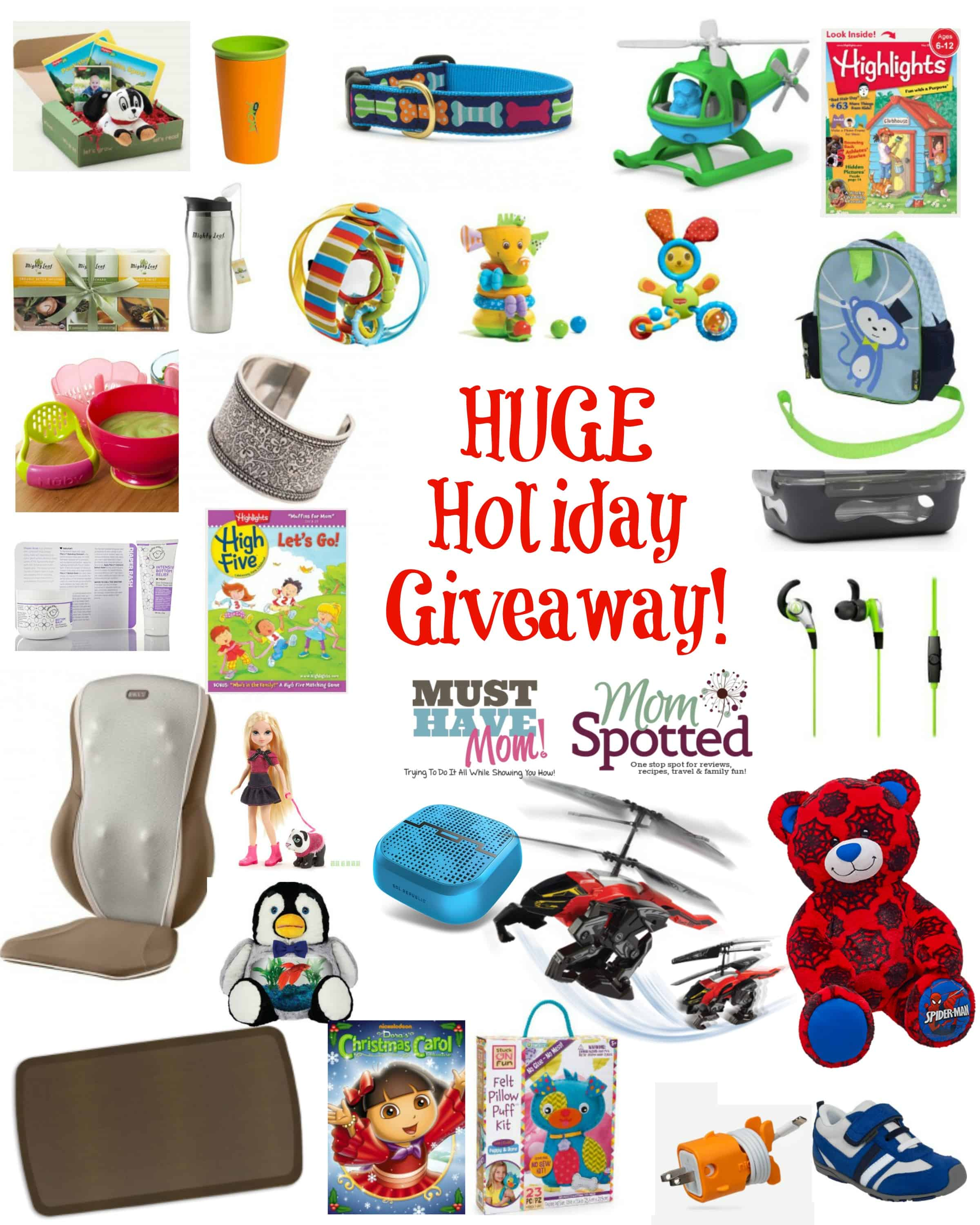 Huge Holiday Giveaway from Must Have Mom and Mom Spotted!