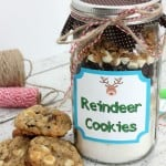 Reindeer Cookies In A Jar Recipe & Instructions With FREE Printable!