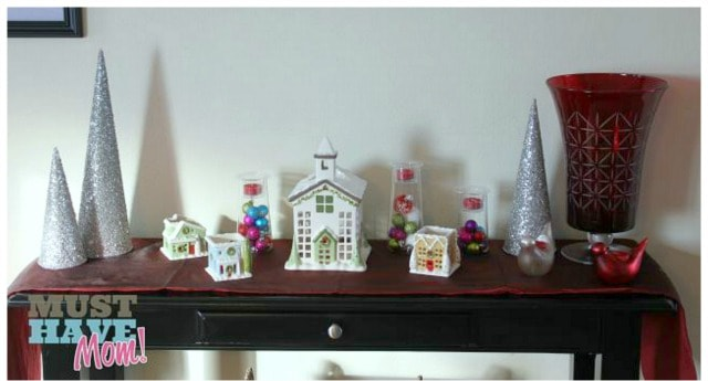 sofa table christmas decor - Christmas Decorations For Sofa Table
