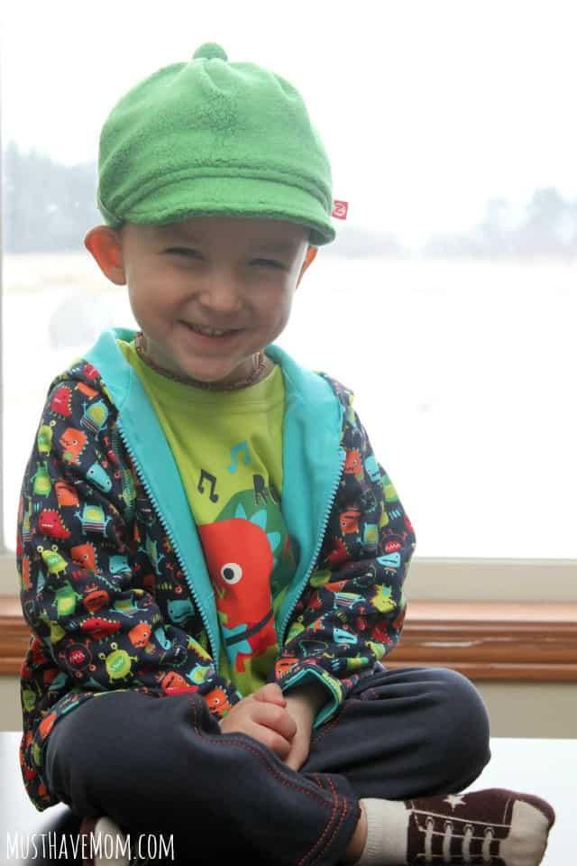 Zutano Apple Cozie Toddler Newsboy Cap