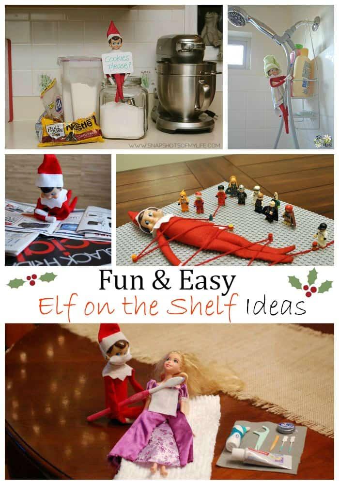 Fun & Easy Elf on the shelf ideas