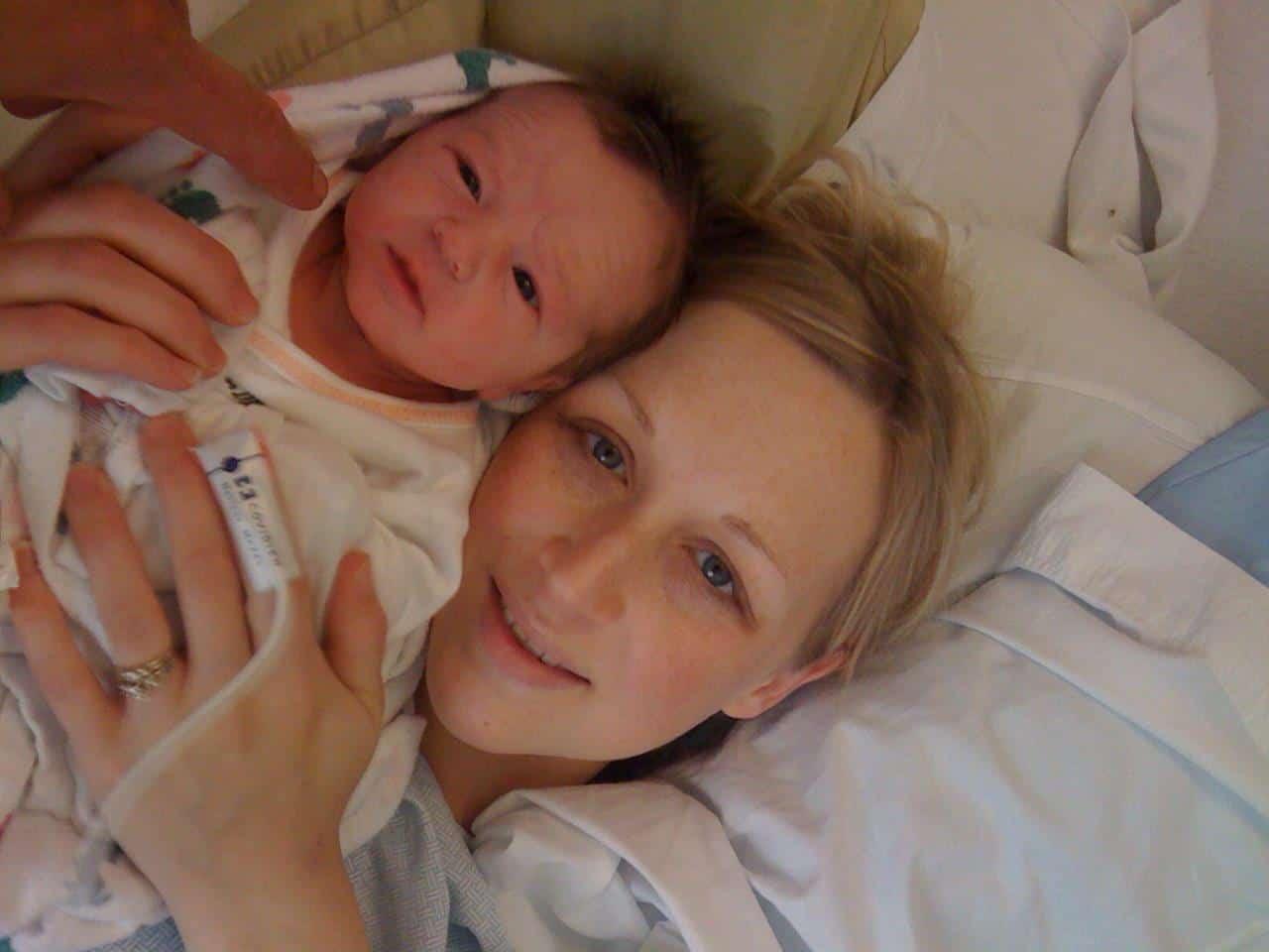 sarah and carson newborn pic