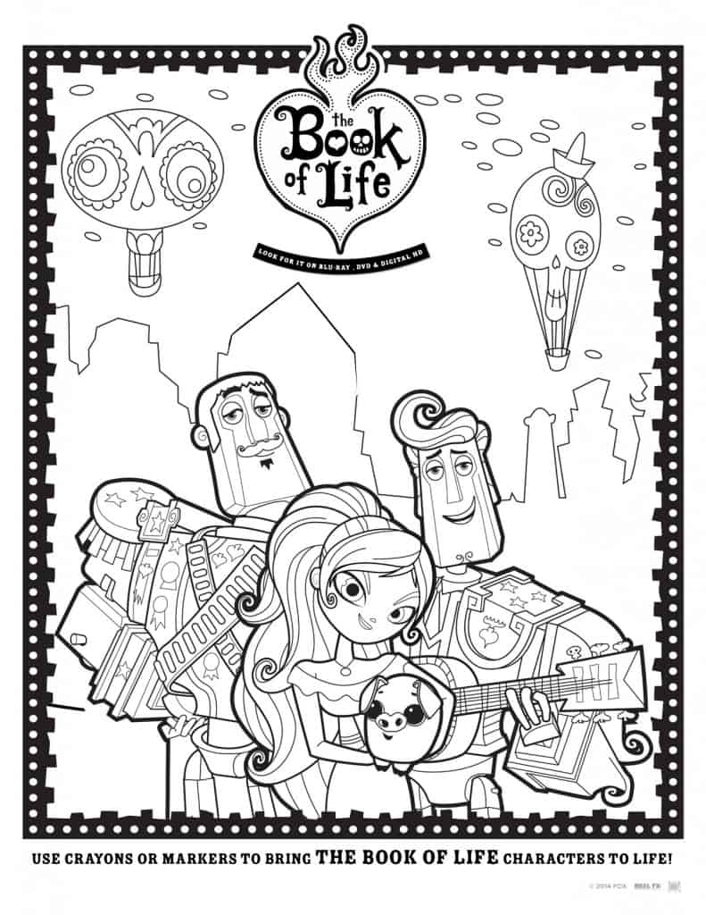 The Book of Life Free Printable Coloring Sheet