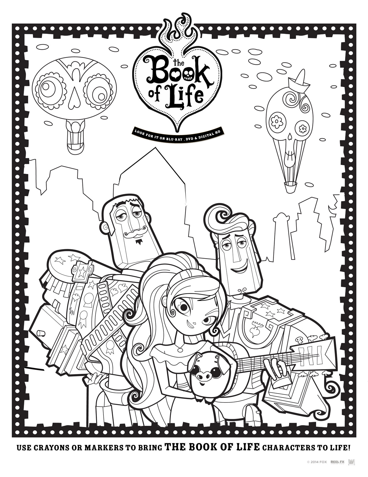 The Book Of Life Free Printables + Giveaway