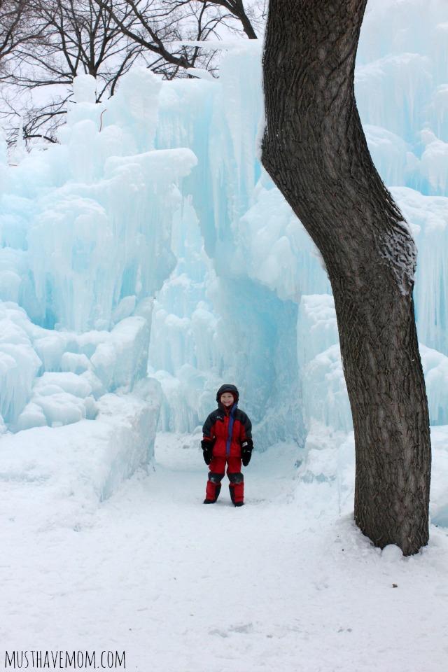 Eden Prairie Ice Castles & Aiden