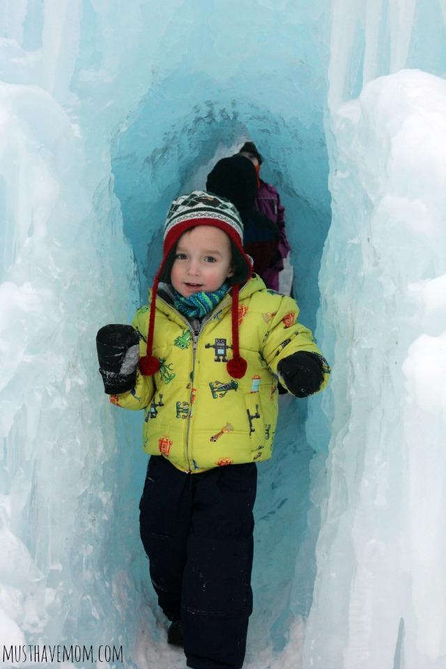 Minnesota Ice Castle Cave