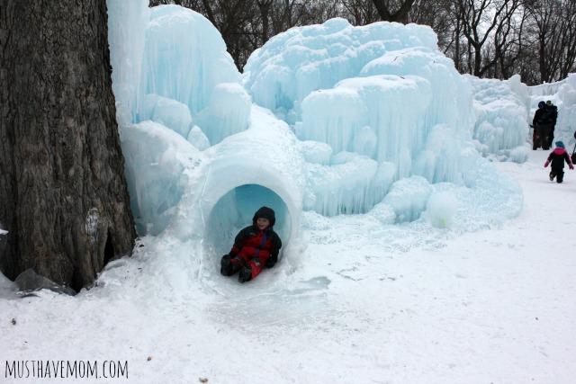 Minnesota Ice Castles Ice Slide