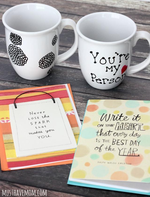 Pair a DIY Coffee Mug with a Hallmark Card for a Valentine's friendship gift!